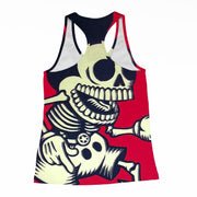 Skeleton Mickey Racerback-Tank
