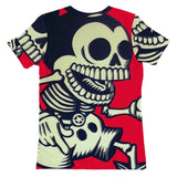 Skeleton Mickey Womens T-shirt