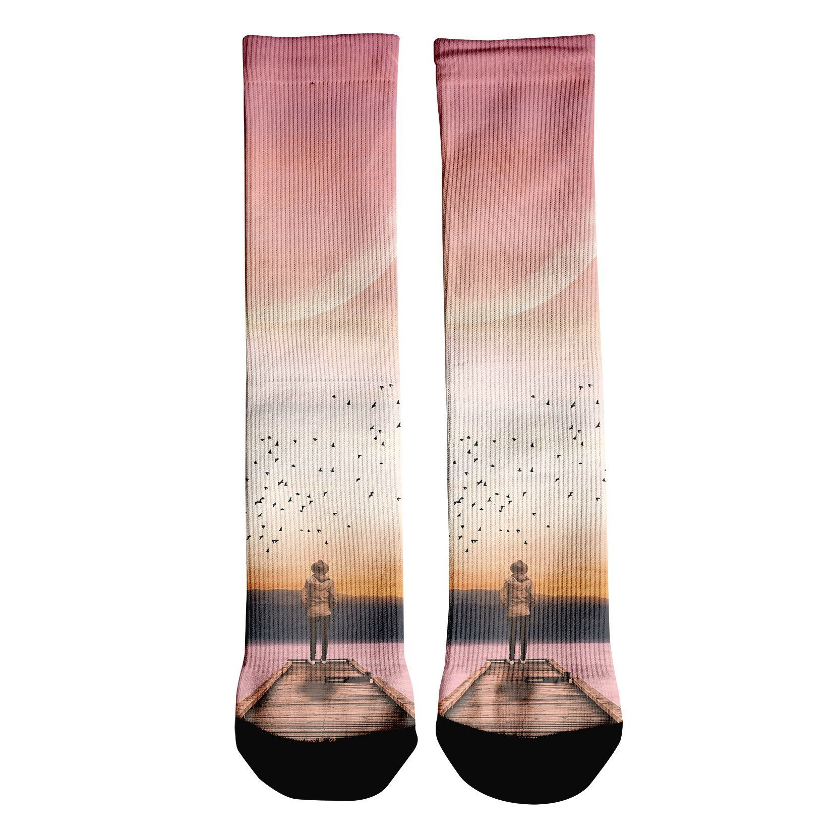Over The Horizon Crew Socks