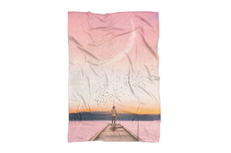 Over The Horizon Fluffy Micro Fleece Throw Blanket