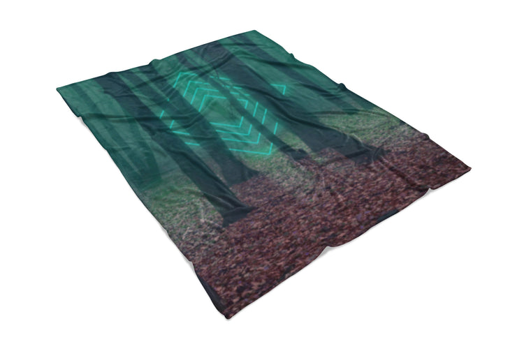 Forest Glow Fluffy Micro Fleece Throw Blanket