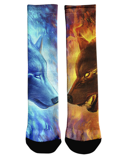 Fire and Ice Crew Socks