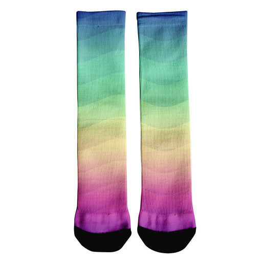 Rainbow Wave Crew Socks