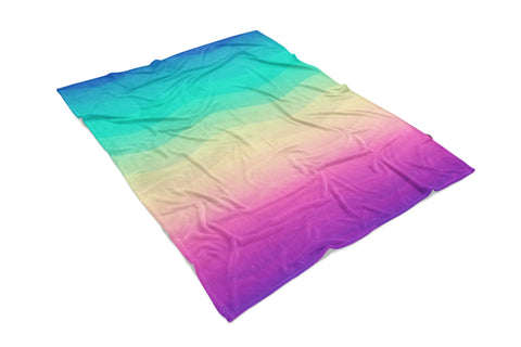 Rainbow Wave printed all over in HD on premium fabric. Handmade in California.