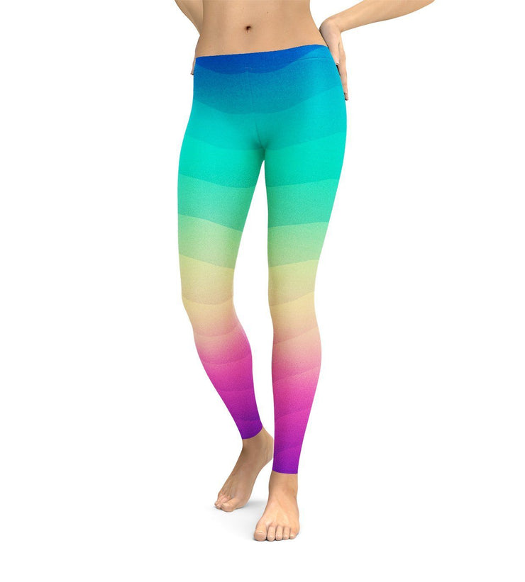 Rainbow Wave Leggings