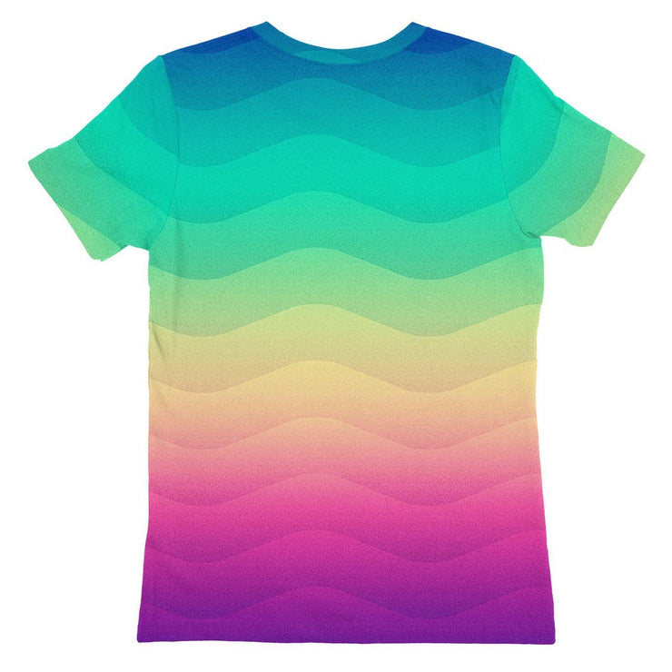 Rainbow Wave Womens T-shirt
