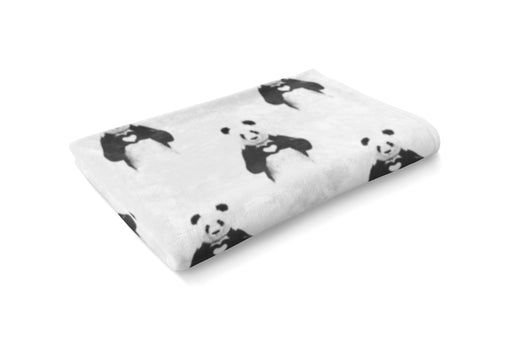 Panda Love Fluffy Blanket