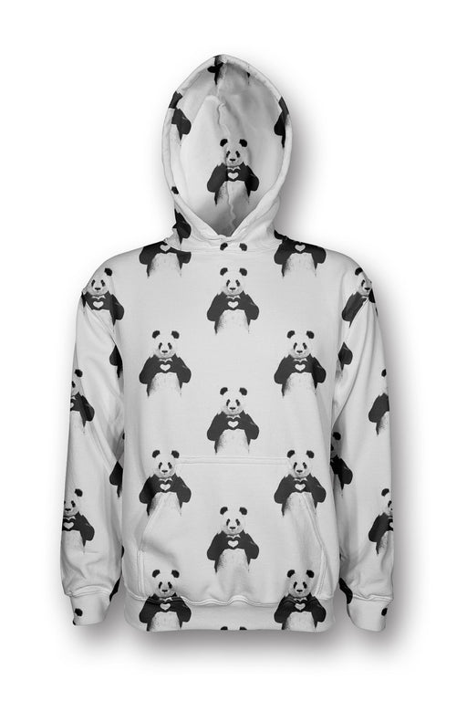 Panda Love printed all over in HD on premium fabric. Handmade in California.