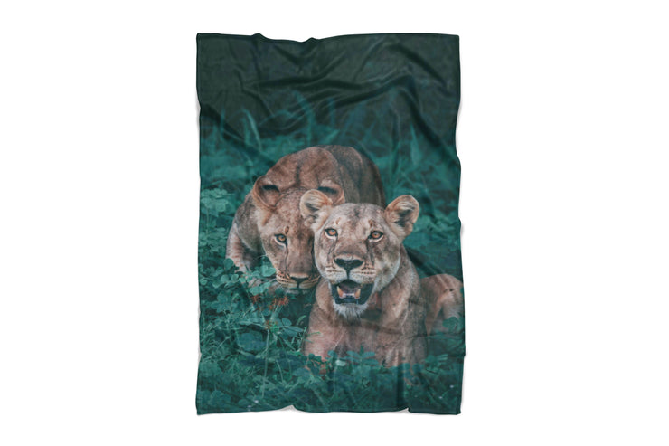 Lions Fluffy Micro Fleece Throw Blanket