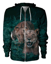 Lions printed all over in HD on premium fabric. Handmade in California.