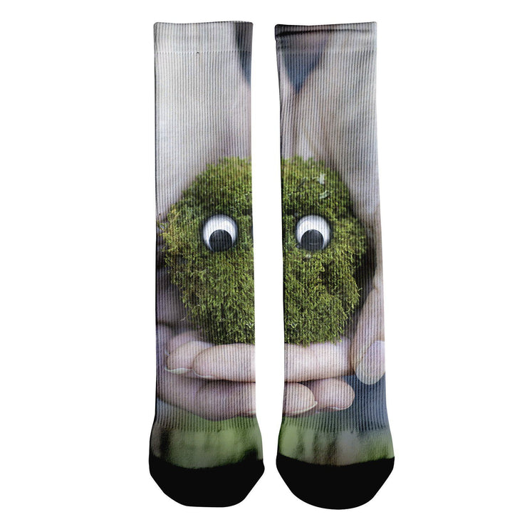 Little Green Friend Crew Socks