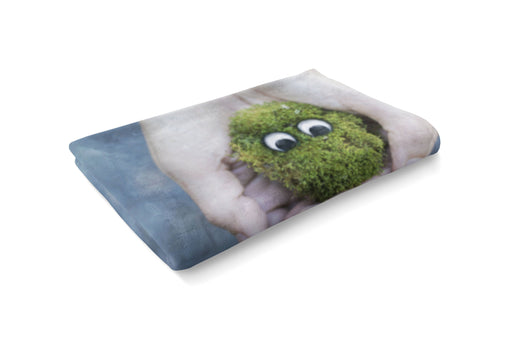 Little Green Friend Fluffy Blanket