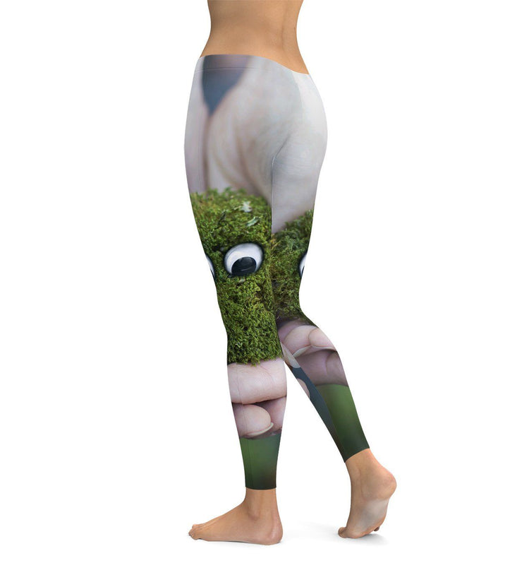 Little Green Friend Leggings