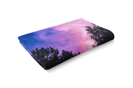 Forest Nebula Fluffy Blanket