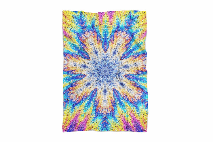 Oil Snowflake Fluffy Micro Fleece Throw Blanket