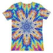 Oil Snowflake Womens T-shirt