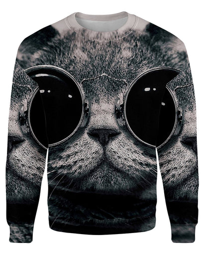 Hipster Cat printed all over in HD on premium fabric. Handmade in California.
