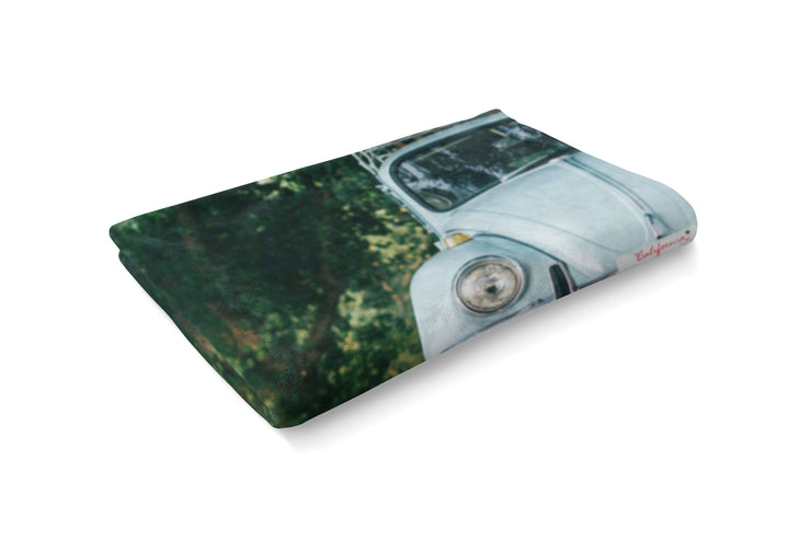 VW Beetle Fluffy Micro Fleece Throw Blanket