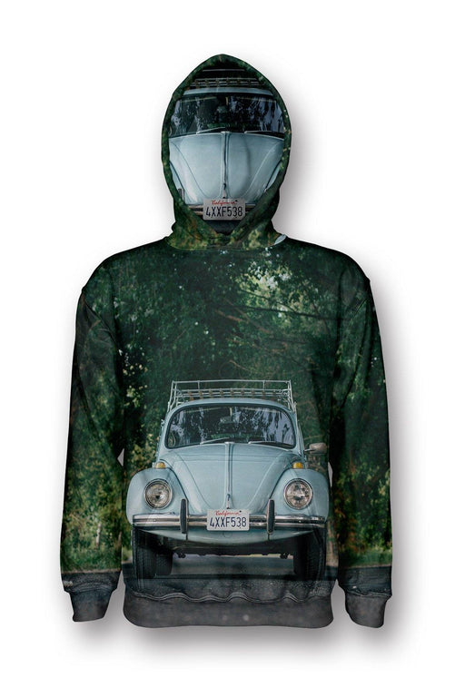 VW Beetle printed all over in HD on premium fabric. Handmade in California.