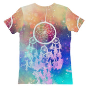 Rainbow Dream Catcher Womens T-shirt