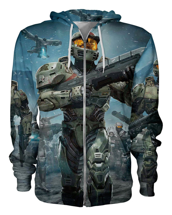 Master Chief printed all over in HD on premium fabric. Handmade in California.