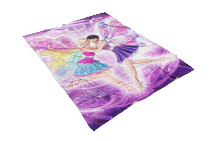 Barbie Fairies Fluffy Micro Fleece Throw Blanket