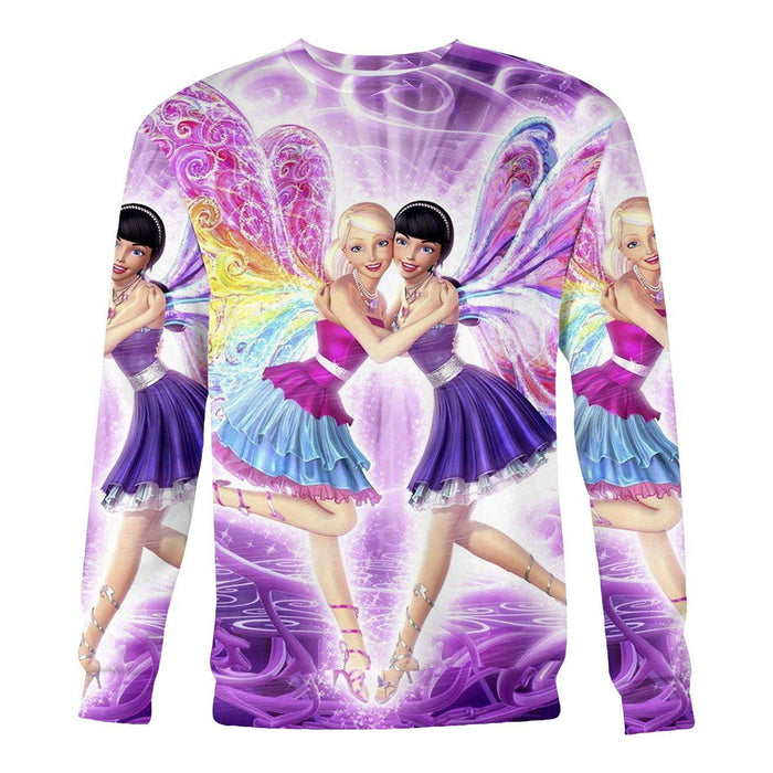 Barbie Fairies printed all over in HD on premium fabric. Handmade in California.