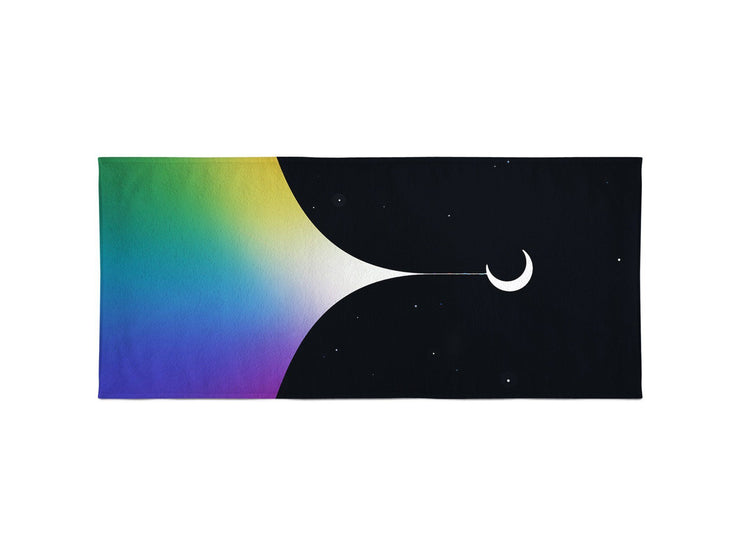 Rainbow Night Beach Towel