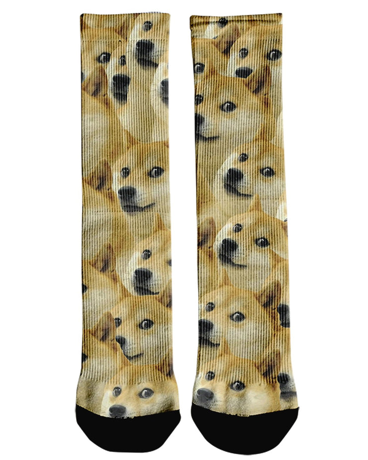 Doggo printed all over in HD on premium fabric. Handmade in California.