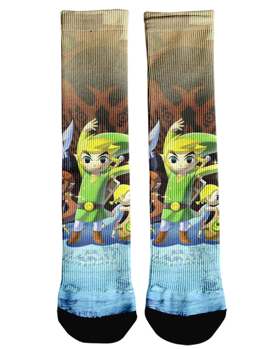 Zelda printed all over in HD on premium fabric. Handmade in California.
