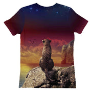 Thinking Leopard Womens T-shirt
