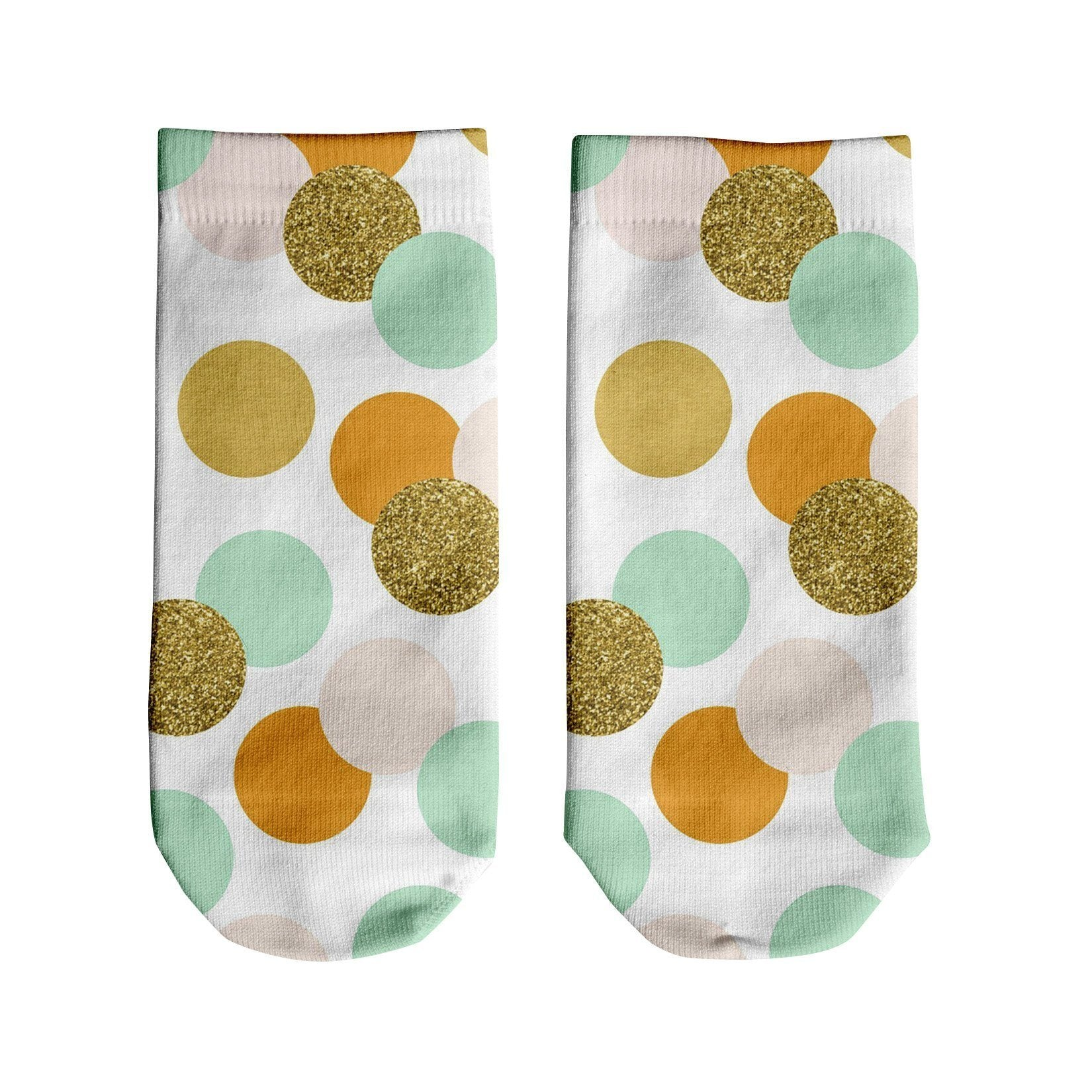 Teal Dots Ankle Socks