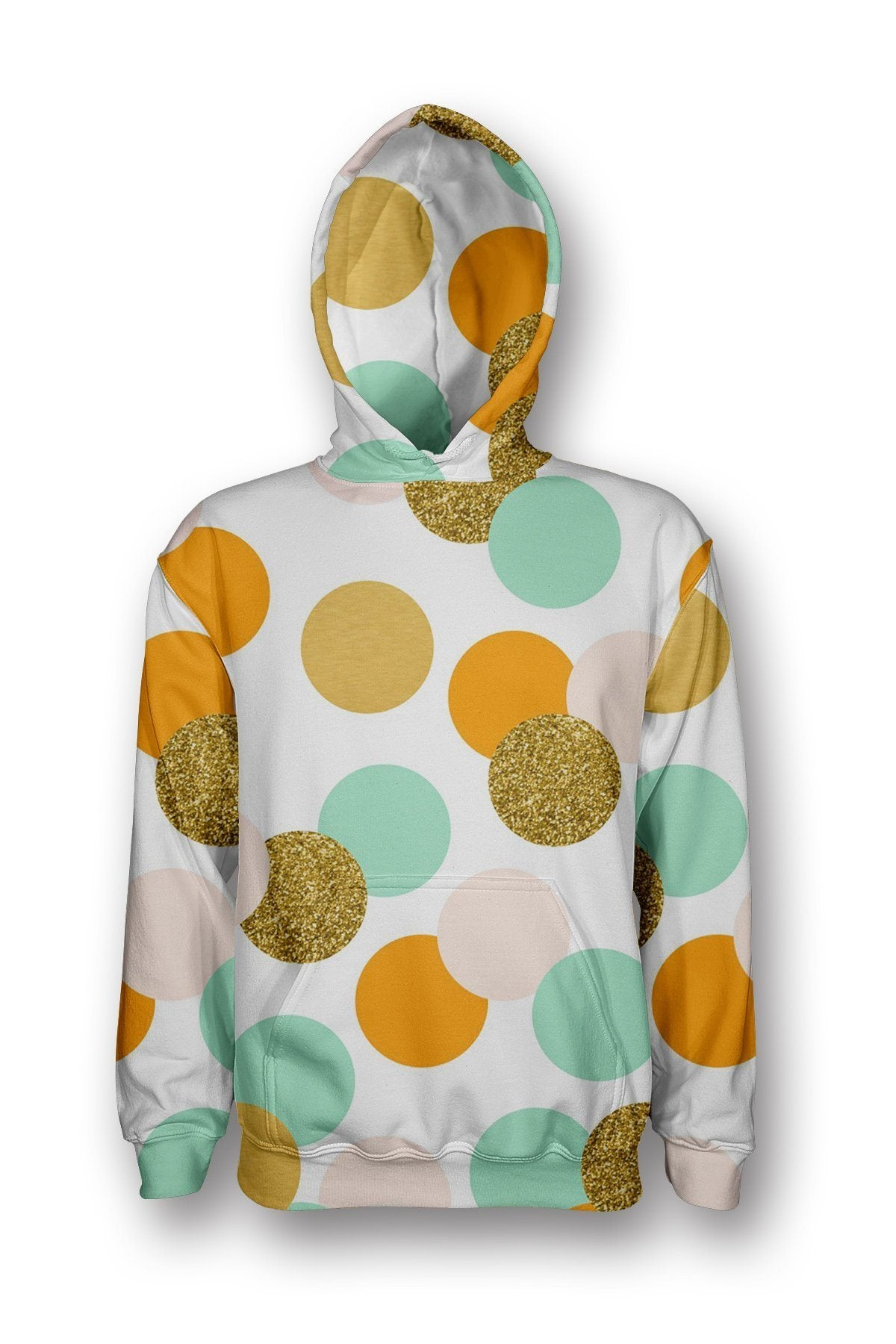 Teal Dots Pullover Hoodie