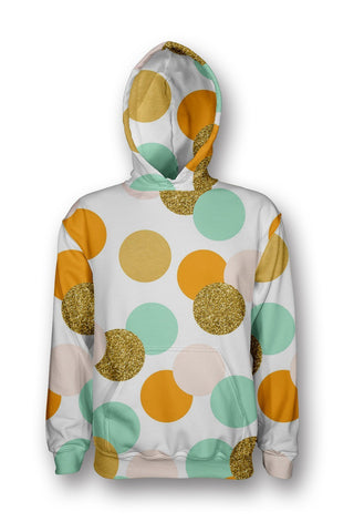 Teal Dots printed all over in HD on premium fabric. Handmade in California.