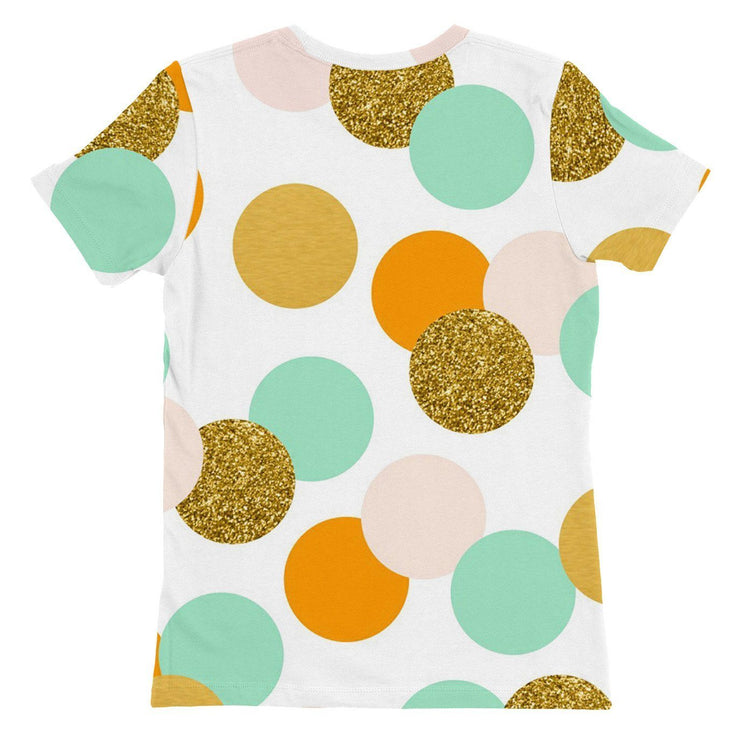 Teal Dots Womens T-shirt