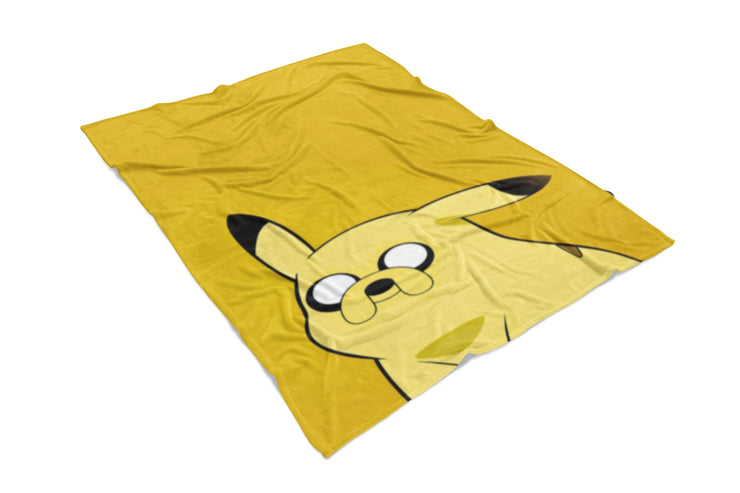 Pinkachu Adventure Fluffy Micro Fleece Throw Blanket
