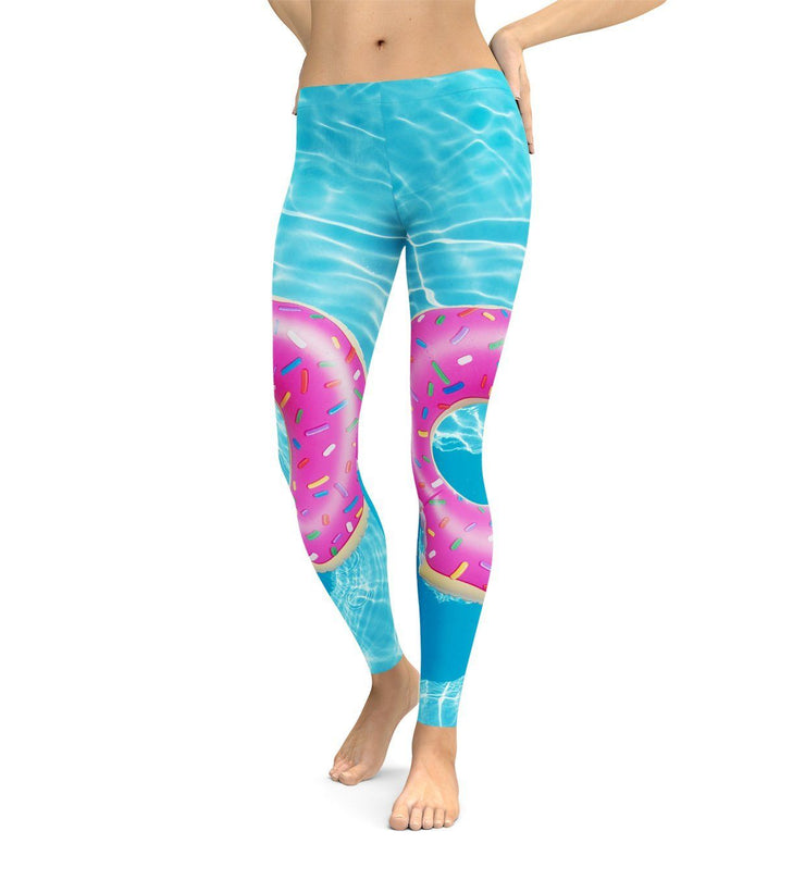 Pool Donut Leggings