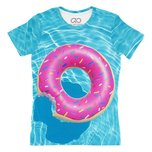 Pool Donut printed all over in HD on premium fabric. Handmade in California.