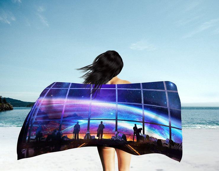Space Station Beach Towel