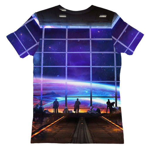 Space Station Womens T-shirt