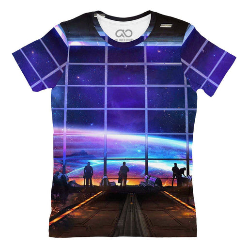 Space Station printed all over in HD on premium fabric. Handmade in California.