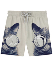 Hipster Kitty Athletic Shorts