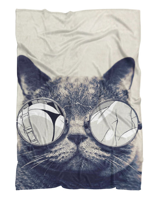Hipster Kitty printed all over in HD on premium fabric. Handmade in California.