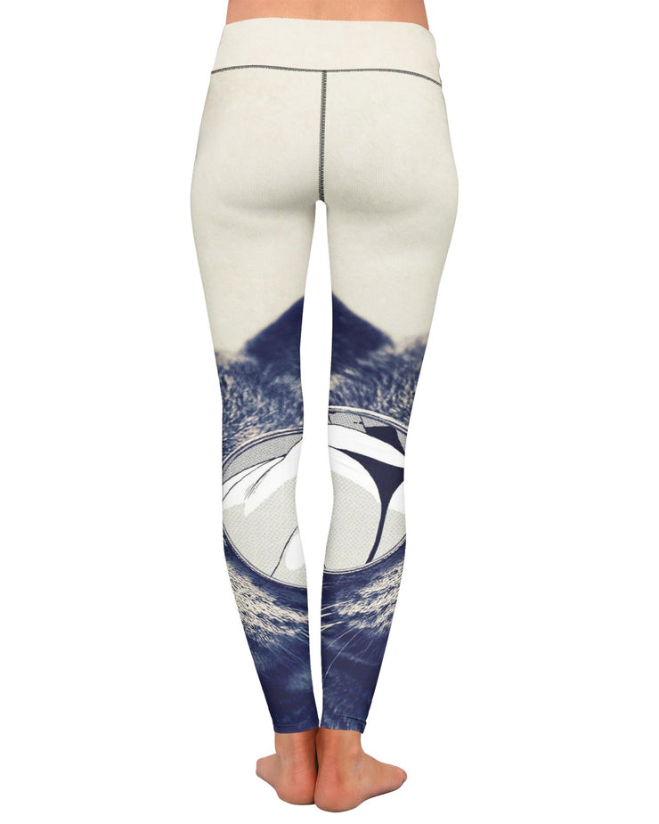 Hipster Kitty Yoga Leggings