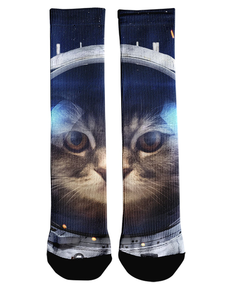 Astro Kitty printed all over in HD on premium fabric. Handmade in California.