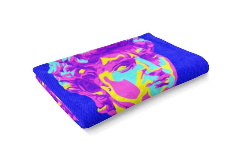 Techno David Fluffy Micro Fleece Throw Blanket