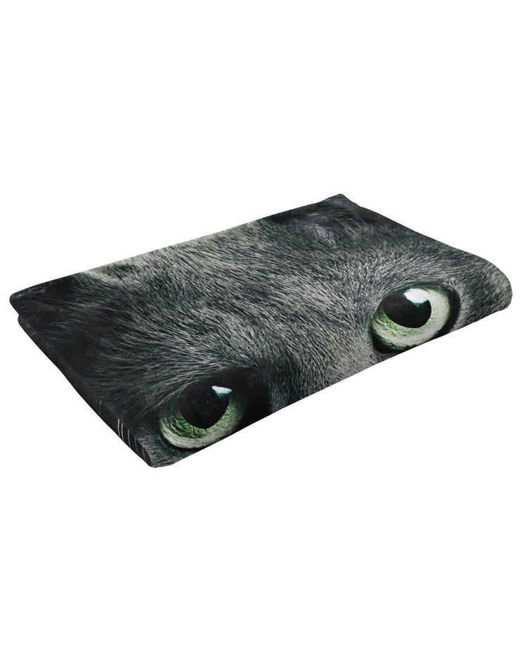 Black Cat Fluffy Micro Fleece Throw Blanket