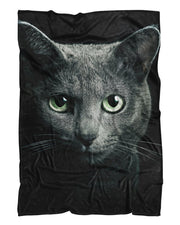 Black Cat printed all over in HD on premium fabric. Handmade in California.