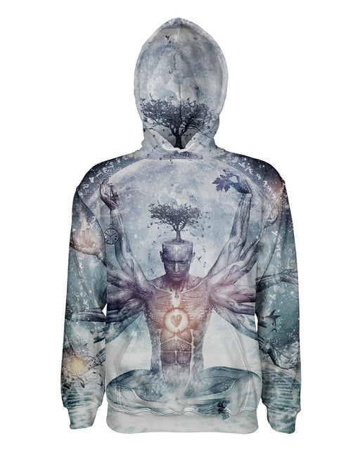 Enlightenment printed all over in HD on premium fabric. Handmade in California.