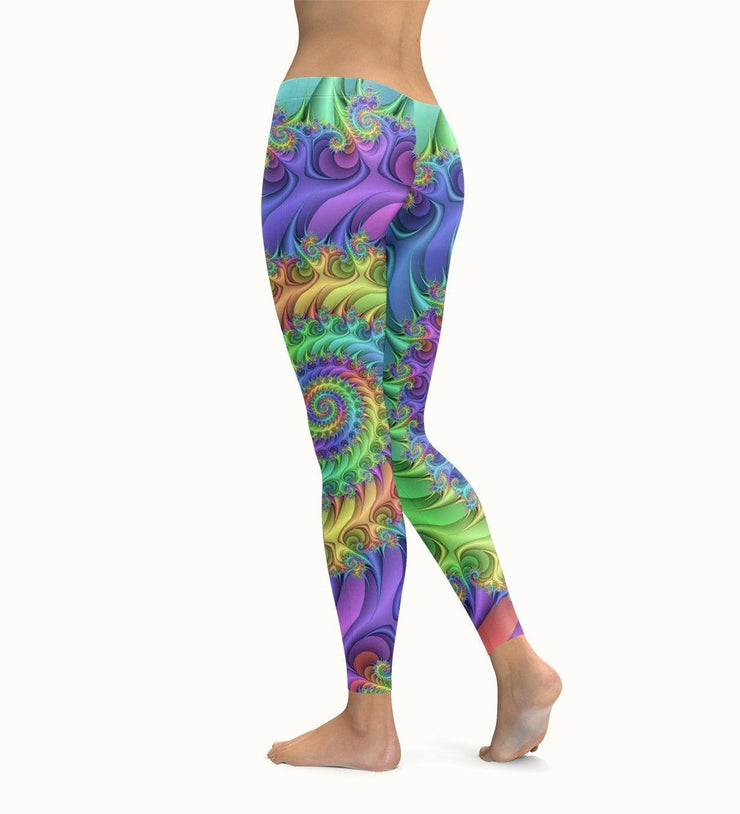 Rainbow Spiral Leggings